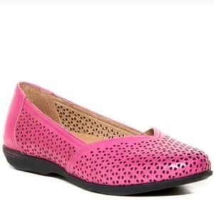Dansko Pink Laser Cut Out Loafer Flats Size 6